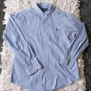 Ralph Lauren custom fit striped button down shirt